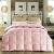 巣居坊の羽毛布団の90%のガチーユの毛の糸は冬に芯の冬に厚い単ダンブの布団のピンクの布団の200 cm*230 cmのダンベルによつて布団されます。
