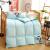 ヤ鹿羽毛布団は子供秋冬綿で厚くて保温90%の白鴨羽毛布団学生被芯青120*150 cm(絨毯量600 gを含む)