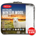 【オーストリア】Tontine真っ赤な羊毛の生地団春夏秋冬保温モデル固綿単厚くなっています。芯温度調節にかられます。布団羊毛枕は秋冬用/白220*240 cmです。