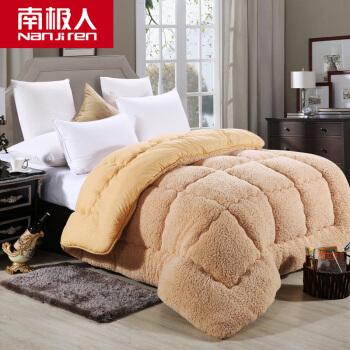 南極人の子羊の毛が厚くて暖かいフランネルの布団布団が単ダブルの春と秋の温度に調節されます。掛け布団が芯の子羊の毛で180*220 cm/3 kgです。