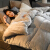 ヤシカの家紡フランネル布団冬は厚い保温綿でダブルシングールを芯フランネル灰色200 X 230 cmに厚い冬は7斤になります。