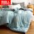 南極人家紡布団シンゲル加厚年齢純色の綿花にウォーカーされました。芯ダブ学生寮には春布団寝具プレゼントがセールされています。【立体】太湖藍200*230 cm/8斤【ダブル-加厚冬布団】